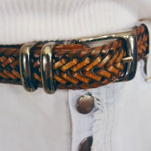 Perry Ellis Accessories - 🍁Genuine Braided Leather Dad Belt Sz. 34